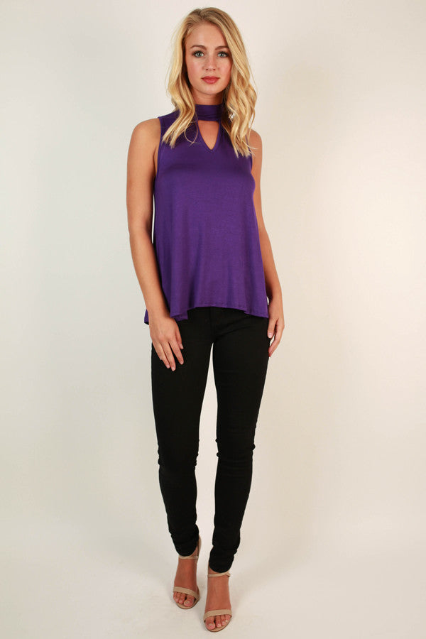 Hometown Sweetheart Shift Tank in Purple