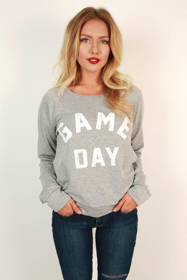 Game Day Sweater in Grey