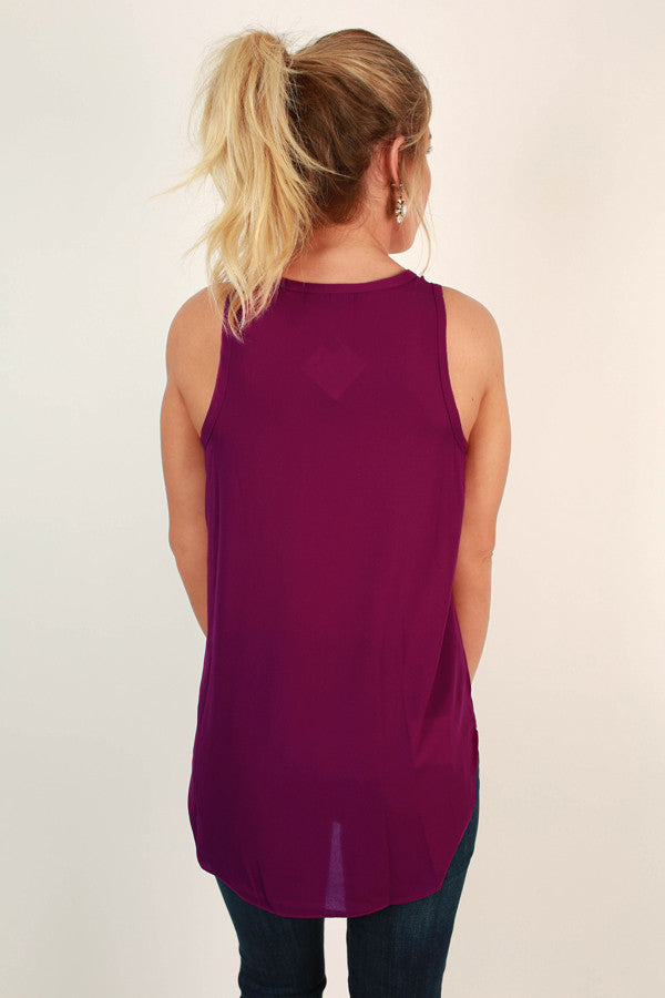 Weekend Escape Shift Tank in Vineyard Grape