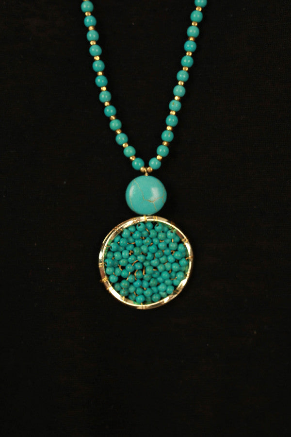 Time Of My Life Necklace in Aqua