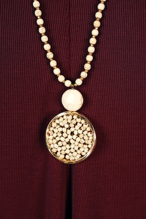 Time Of My Life Necklace in Ivory