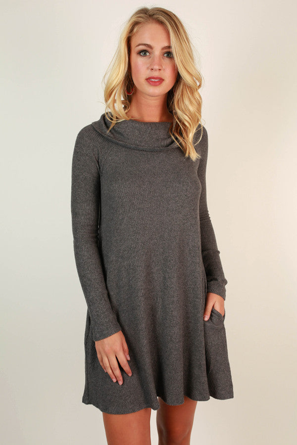 Dream Girl Shift Dress in Fog