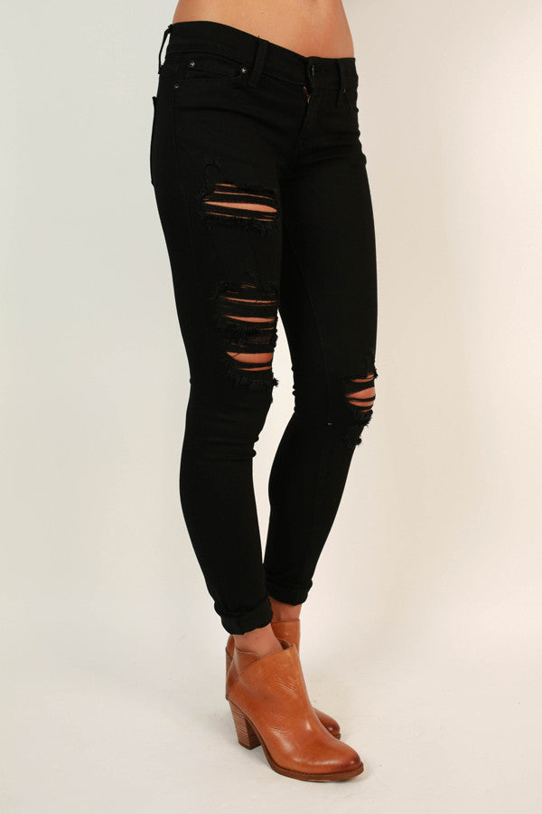 Soho District Distressed Skinny