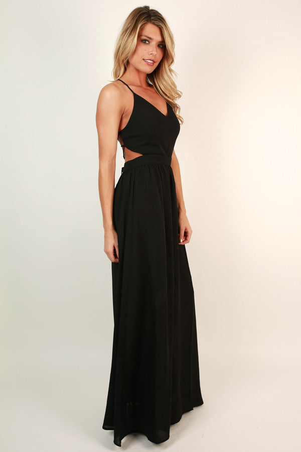 04ba99dd13de0e Late Night Gala Maxi Dress in Black • Impressions Online Boutique