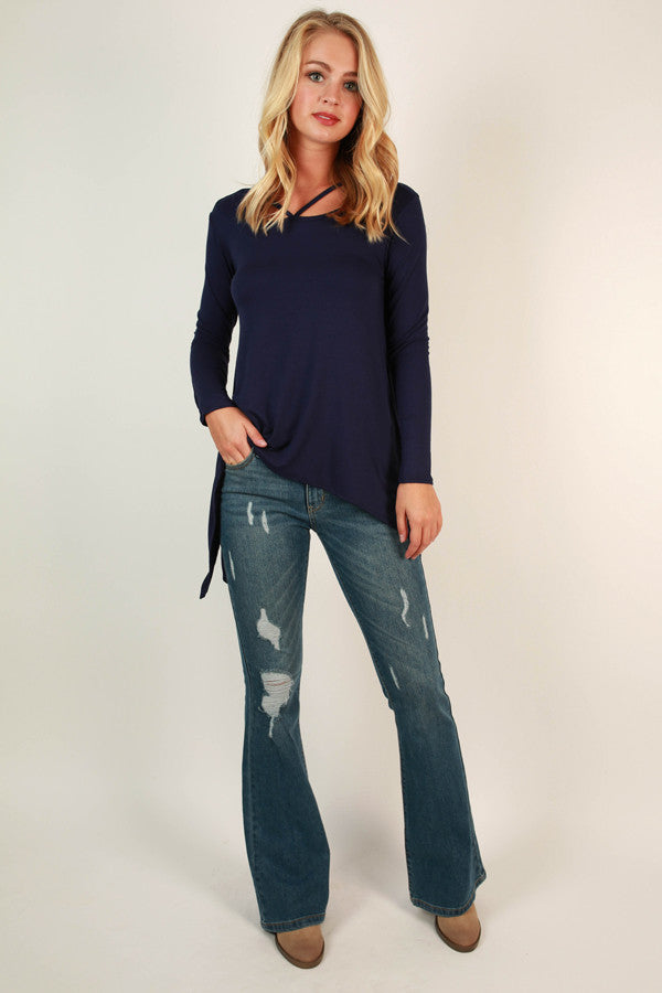 Highway to Happy Top in Dark Blue