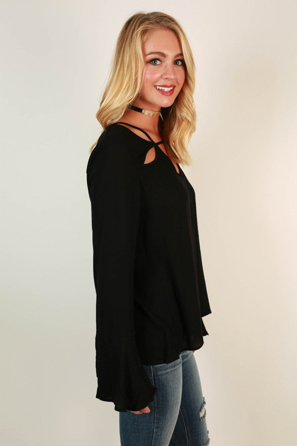 Make the Cut Top in Black