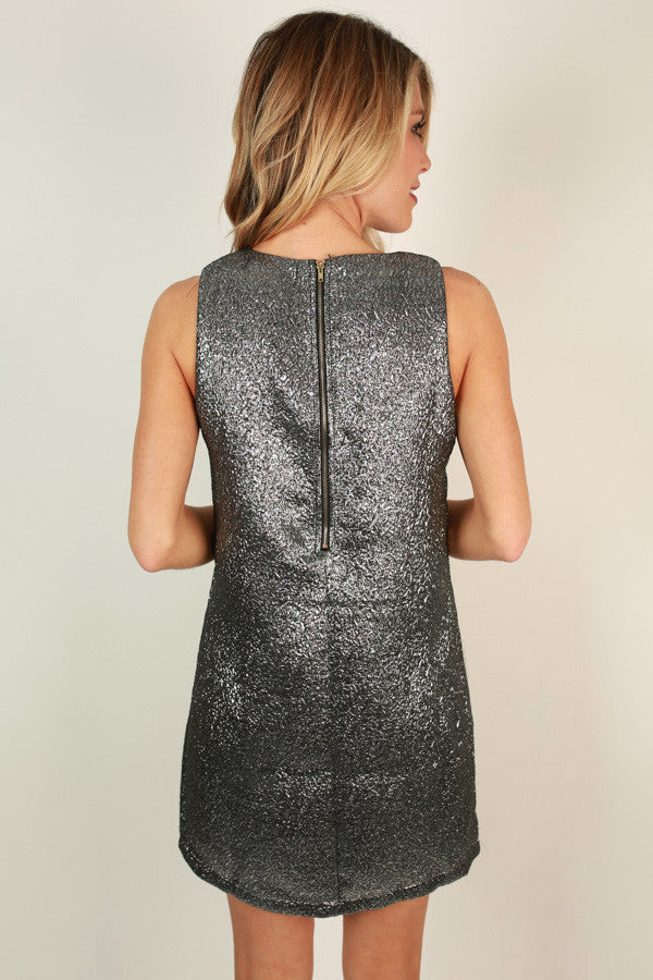 Out Of This World Shift Dress in Silver