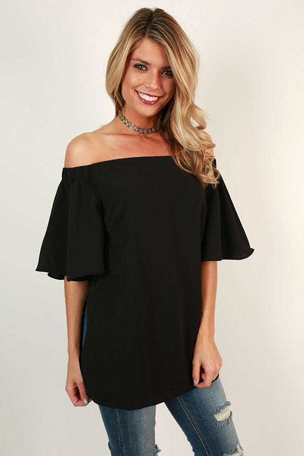 Take Me Away Off Shoulder Top In Black