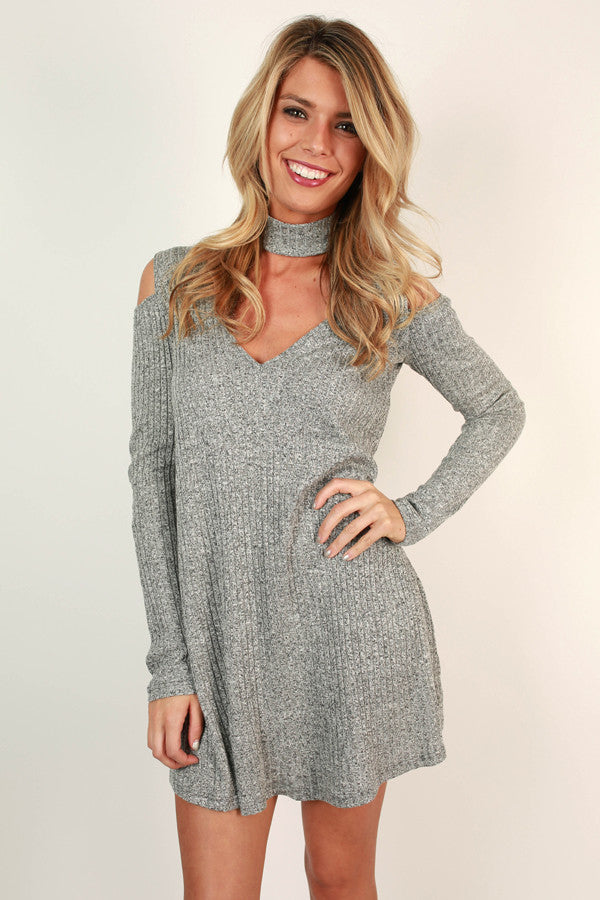 Fall's Most Wanted Shift Dress in Grey