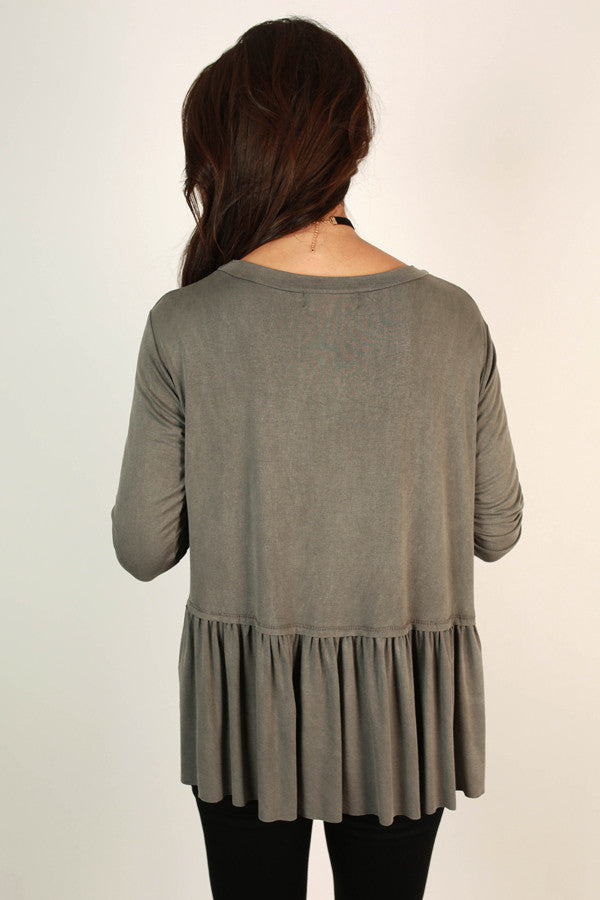 Sweet Autumn Top In Fog