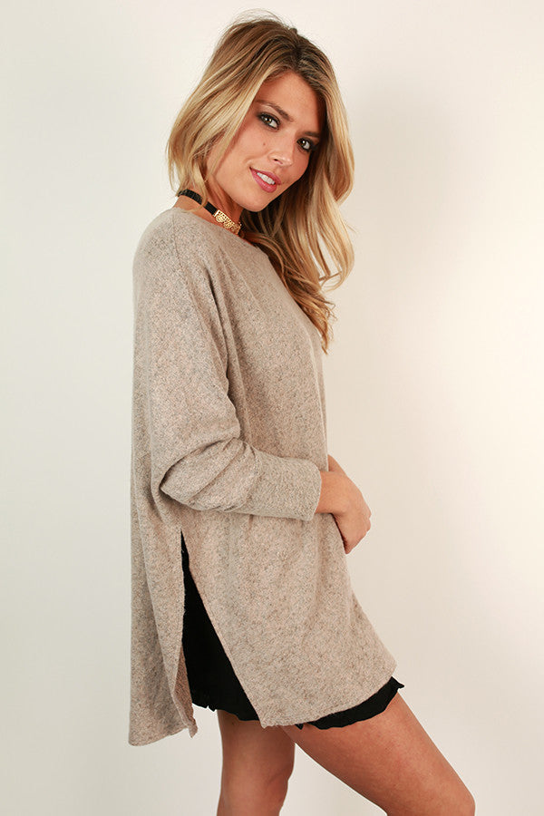 Sweeter In A Sweater Tunic in Birch