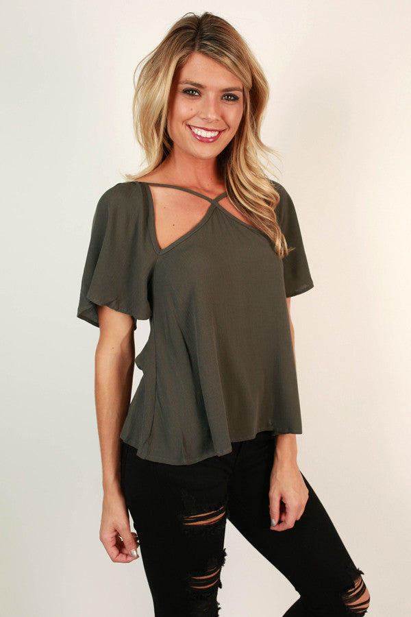 Cause And Effect Cut Out Top In Deep Forest