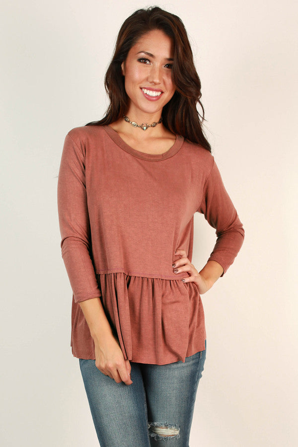 Sweet Autumn Top In Rust