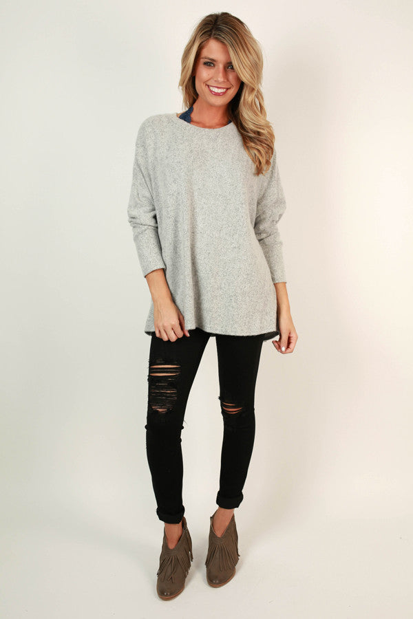 Sweeter In A Sweater Tunic in Grey