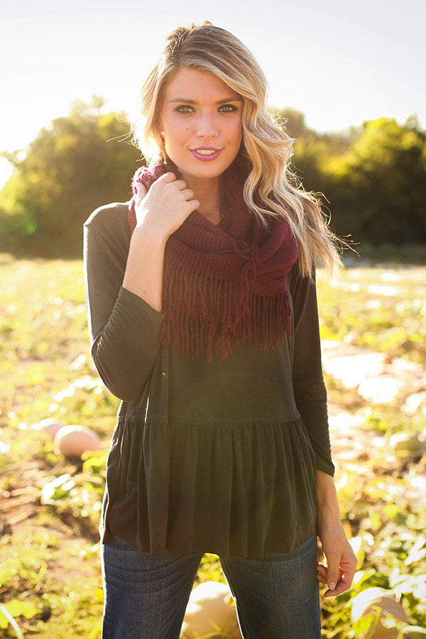 Sweet Autumn Top In Black