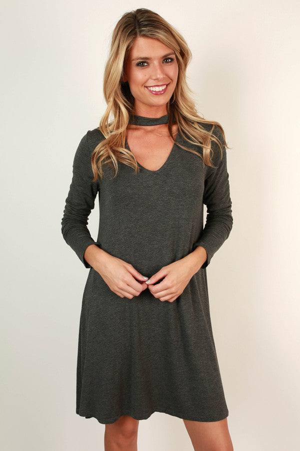 0e964593bbee Risky Business Cut Out Dress In Charcoal • Impressions Online Boutique