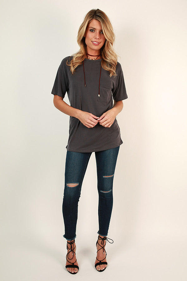 Everyday Perfection Pocket Tee in Black