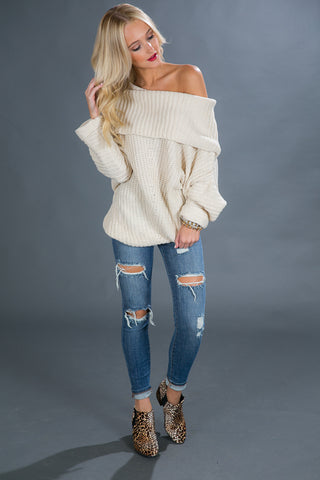 Fireside Snuggles Sweater in Ivory