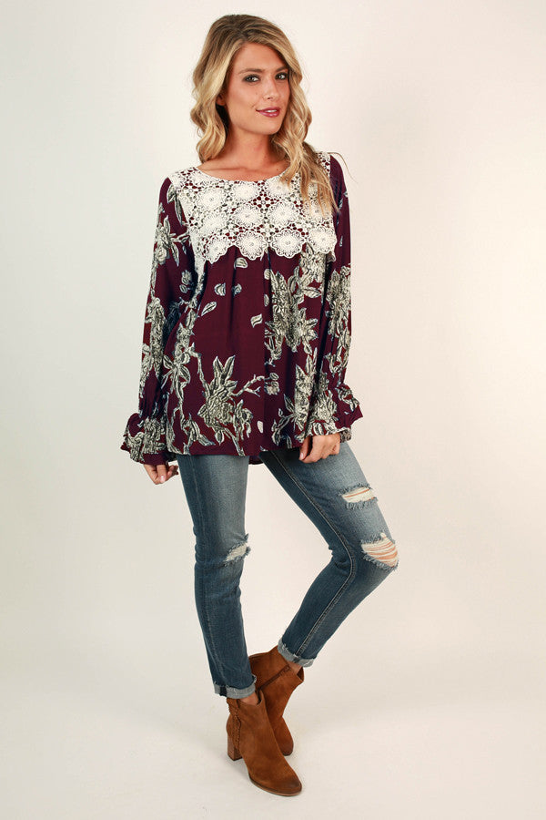 Napa Valley Getaway Top In Sangria