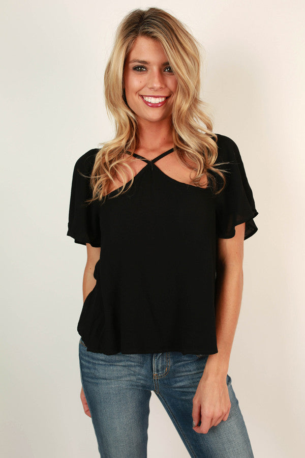 Cause And Effect Cut Out Top In Black