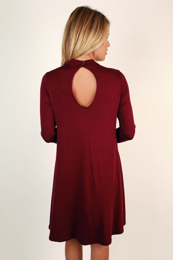 Risky Business Cut Out Dress In Wine