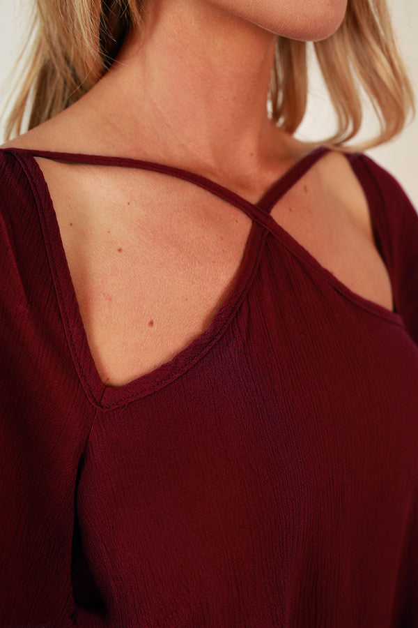 Cause And Effect Cut Out Top In Wine