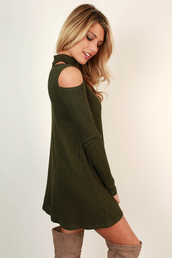 Fall's Most Wanted Shift Dress in Army Green
