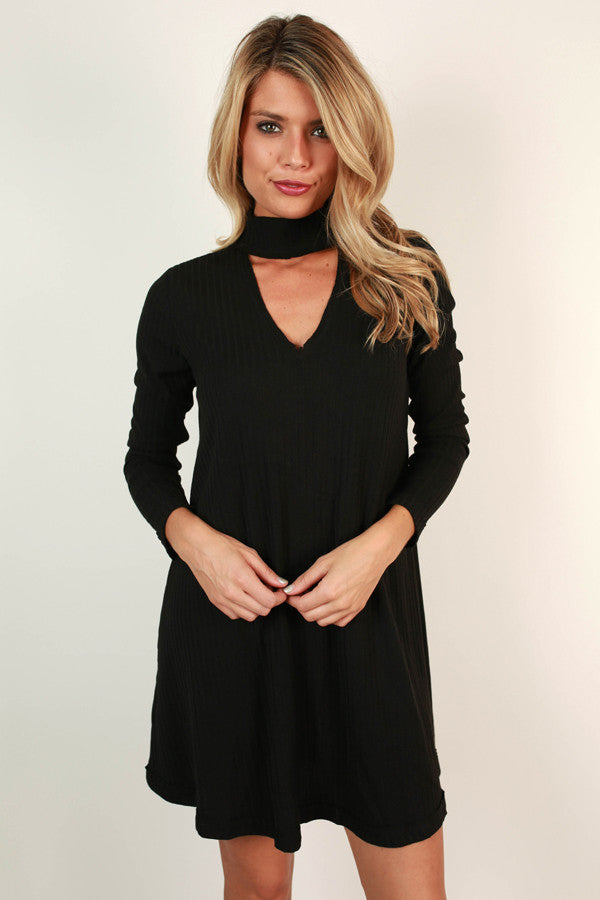 The One and Only Sweater Dress in Black