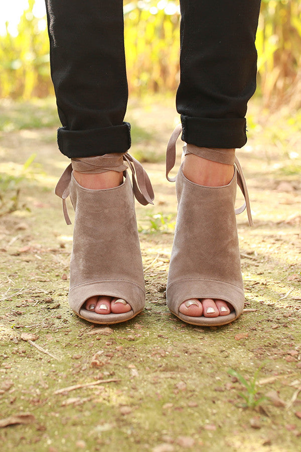 Enlighten Faux Suede Heel