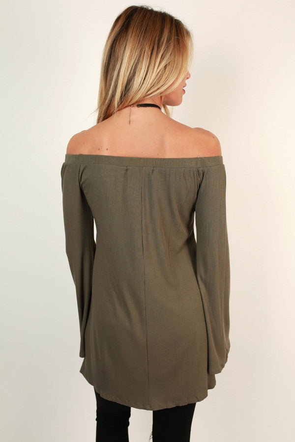 Going Places Off Shoulder Top