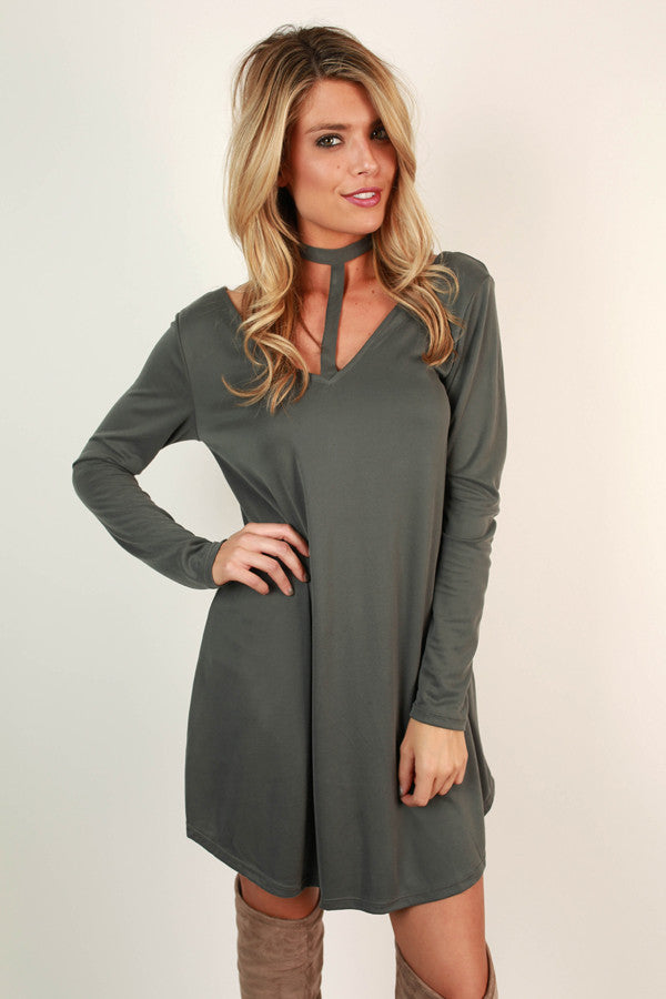 Wink At Ya Tunic Dress in Forest