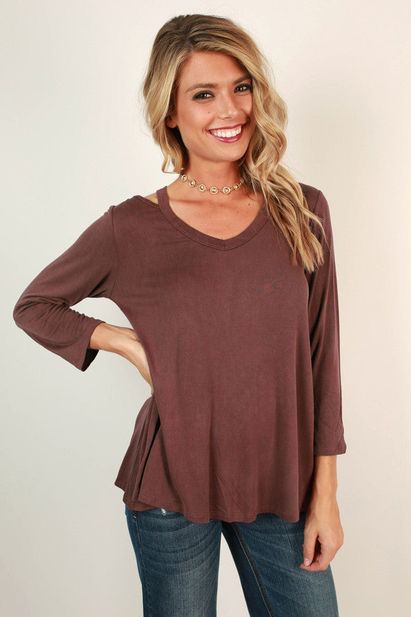 Saturday Smiles Cut Out Top In Vineyard Grape