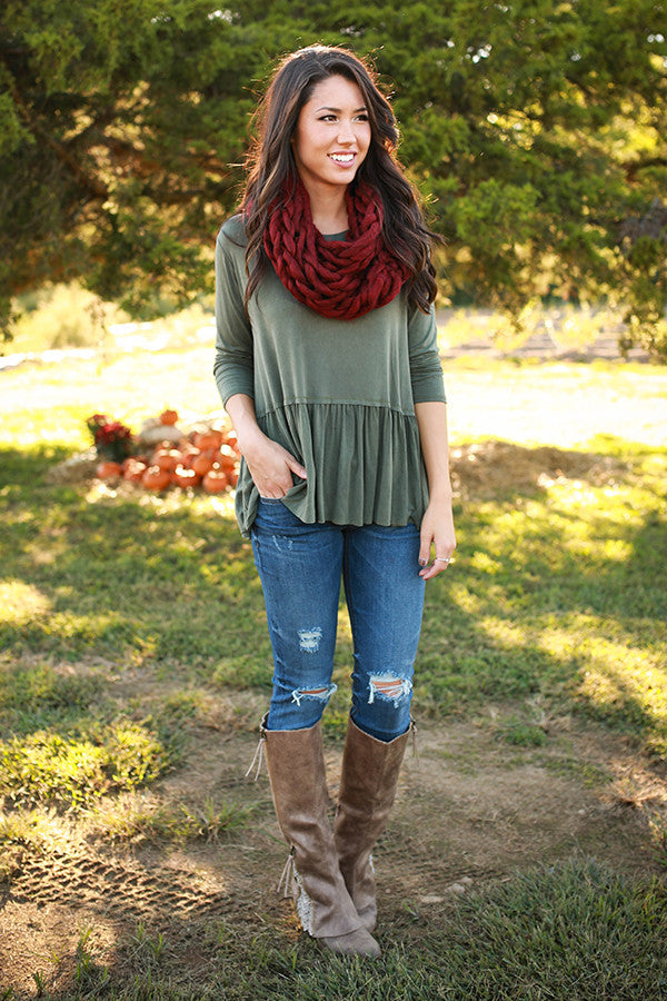 Sweet Autumn Top In Sage