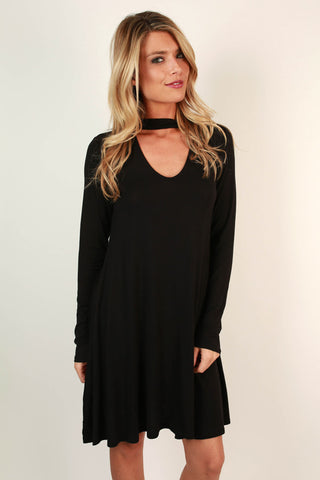 Risky Business Cut Out Dress In Black