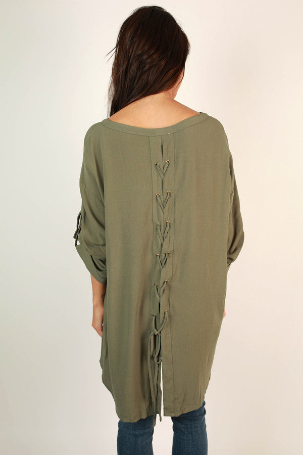 Fall's First Kiss Tunic In Sage