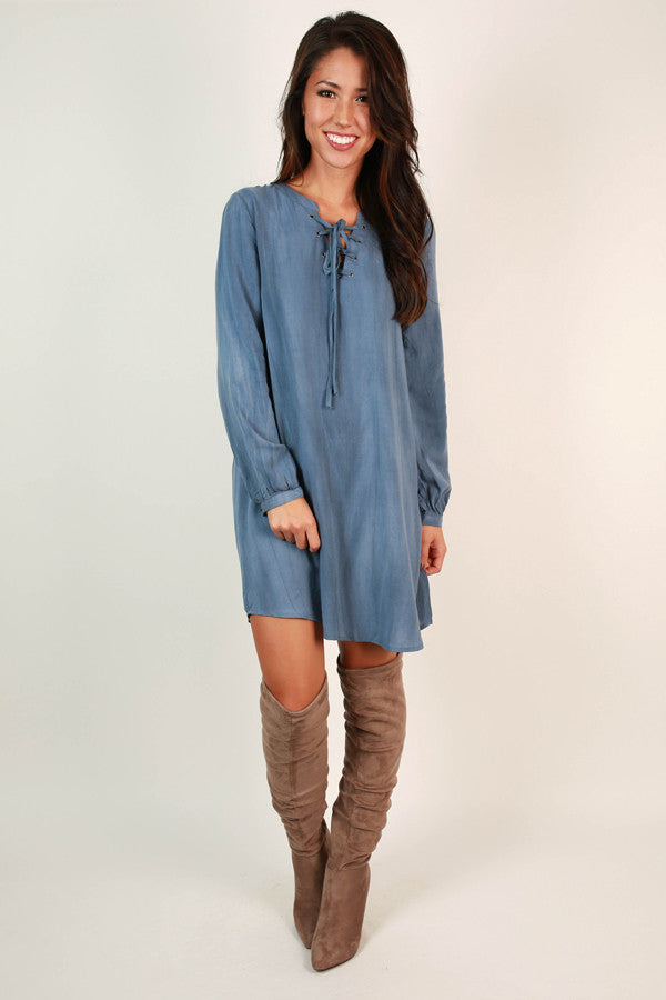 Baby Blues Shift Dress