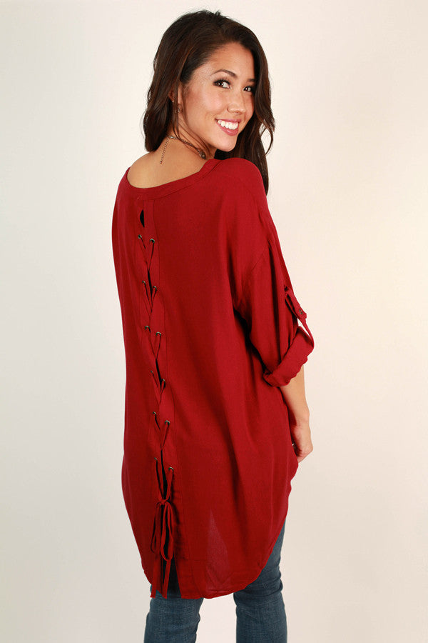 Fall's First Kiss Tunic In Red