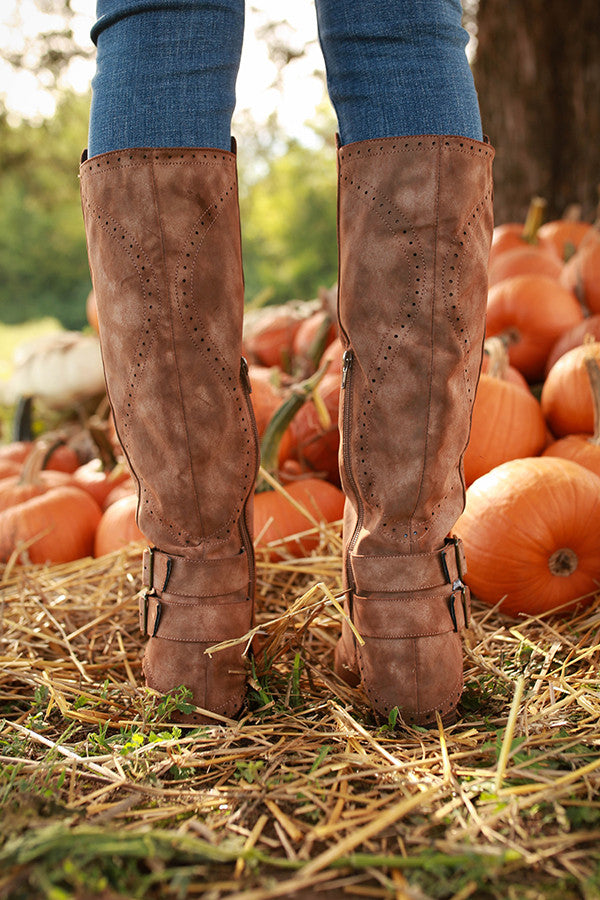 Blaire Knee High Boot in Brown