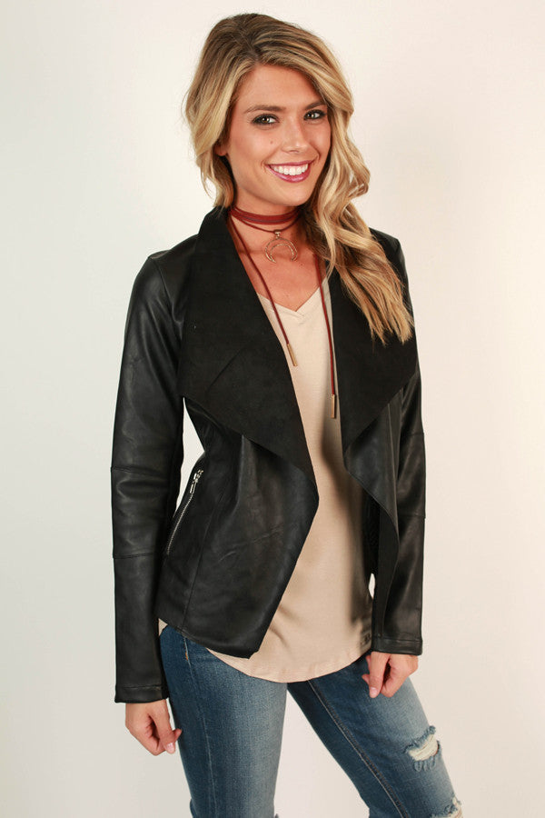 Highway To Haute Faux Leather Jacket