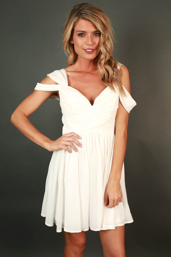 Napa Valley Outing Mini Dress In Ivory