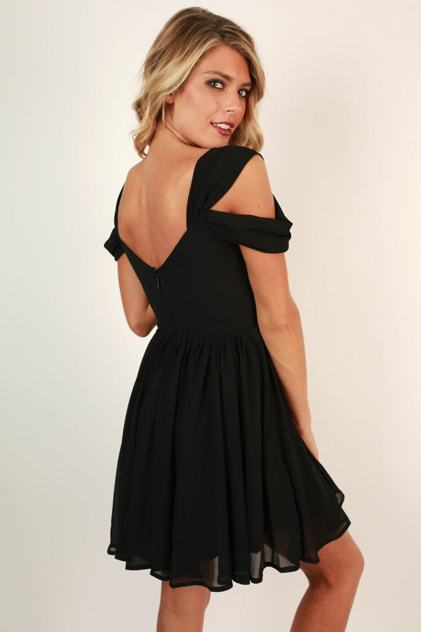 Napa Valley Outing Mini Dress in Black