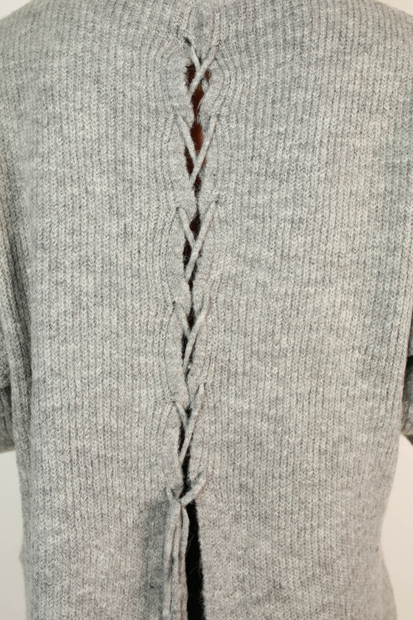 Sweater Weather Tunic in Grey