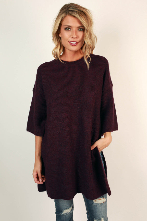 Sweater Weather Tunic in Royal Plum