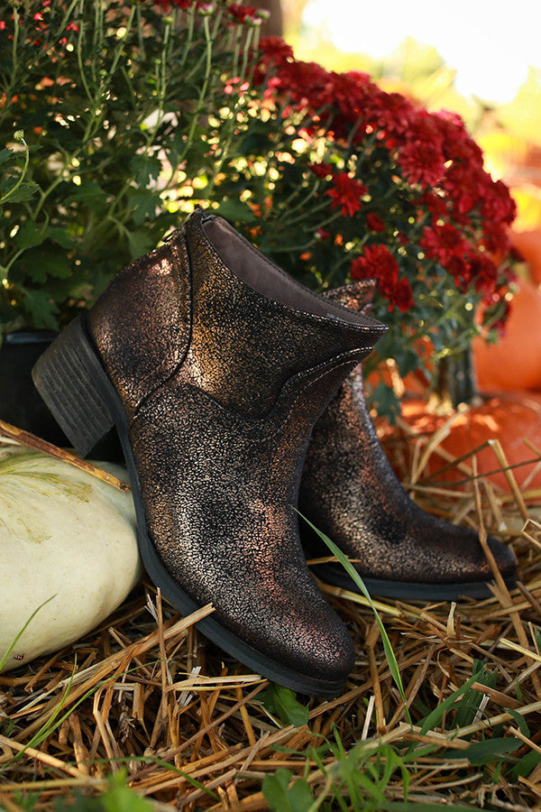 Sagitta Metallic Gold Ankle Bootie