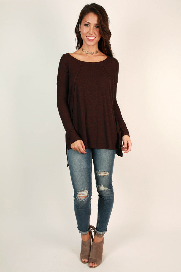 Stuck On You Tunic in Burgundy