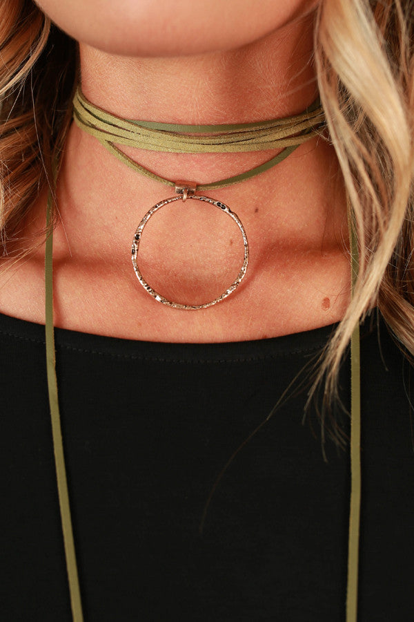 Call It Karma Choker in Sage
