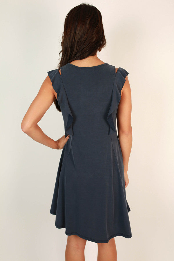 Sway With Me Dress in Indigo Blue