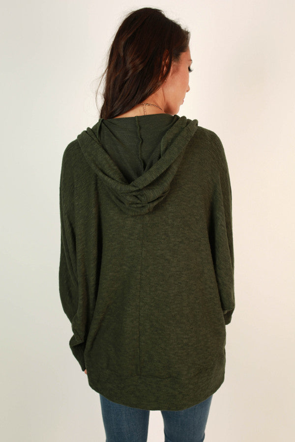 Take A Chance On Me Cardigan in Forest