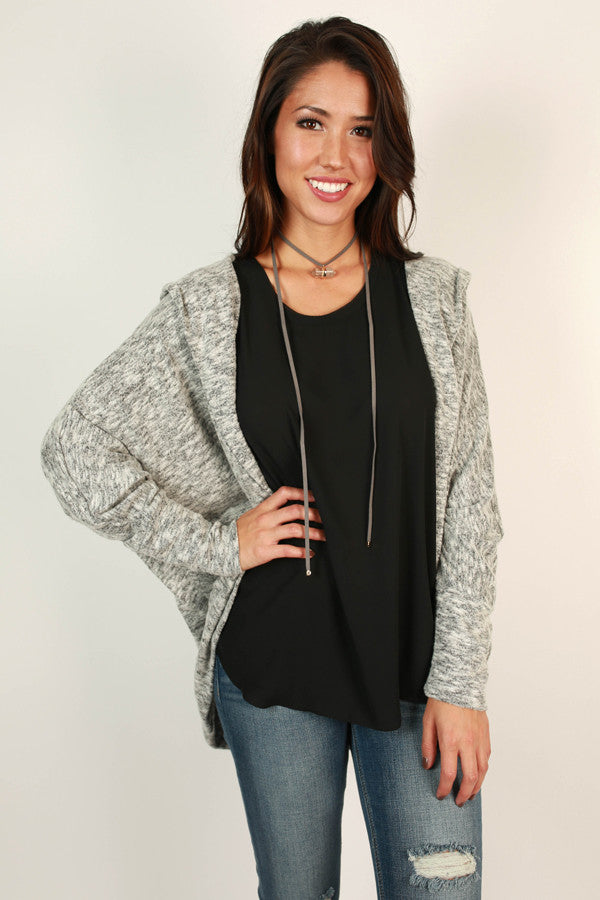 Take A Chance On Me Cardigan in Grey
