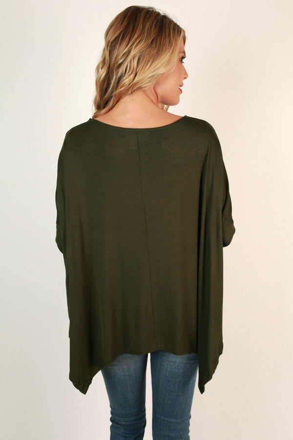 Good Conversation Top In Army Green